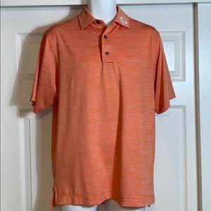 Foot joy orange polo shirt